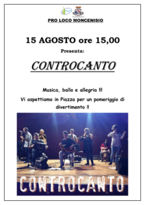 Evento Estate Moncensio Controcanto